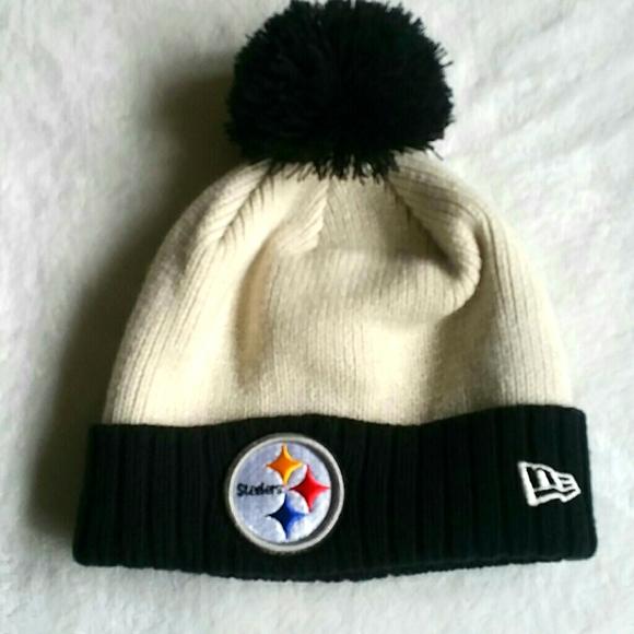 NFL New Era Pittsburgh Steelers Hat with Pom Pom